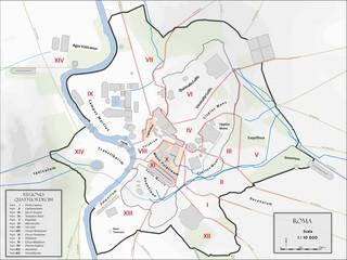 Carte de la ville de Rome antique