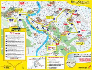 Carte de bus touristique et hop on hop off bus tour de Roma Cristiana